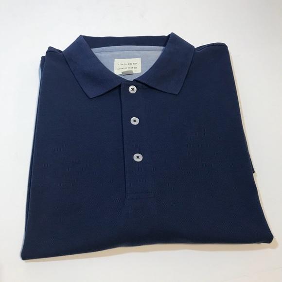 1587dd80b J. HILBURN Other - J. HILBURN Blue Pima Cotton Polo Shirt Size XLT